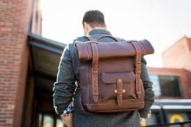 heritage rolltop leather backpackweatherproof leather laptop backpack with a tuck and roll top leather cross bag