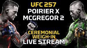 UFC 257: Poirier vs. McGregor 2 Ceremonial Weigh-In LIVE Stream - MMA  Fighting - YouTube