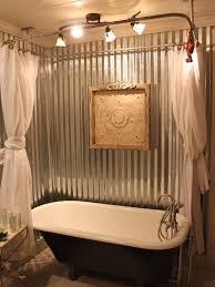 clawfoot tub bathroom ideas. Attractive Clawfoot Tub Bathroom Ideas #2 - Corrugated Metal Shower