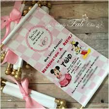 Scroll Birthday Invitations Personalized Birthday Scroll Unique Royal Tea Party Princess Minnie