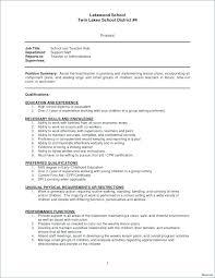Early Childhood Education Resume Samples Sample Resume For A Teacher ...