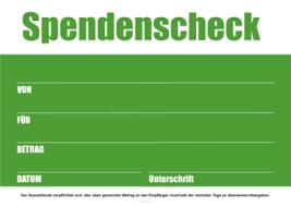 Einfach kostenlos ausdrucken scheckformular zum ausdrucken kostenlos : Spendenschecks Zum Ausdrucken