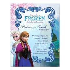 elsa birthday invitations frozen birthday party invitation zazzle com