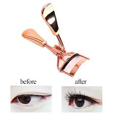1pc <b>Women Rose</b> Gold <b>Eyelashes</b> Curler Supplementer Clip ...