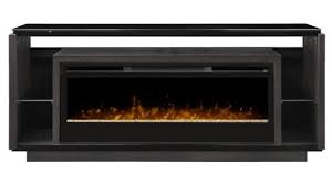 electric fireplaces tv stands brilliant dimplex david glass ember bed fireplace tv stand in smoke regarding 18
