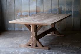 trestle base farm table