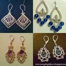 i ve made greek inspired earrings wire filigree earrings showcasing amethyst and london blue topaz even a pair of lotus inspired earrings for my sister