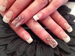 Eye Candy Nails & Training - White tips with leopard freehand nail ...