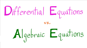 solving diffeial equations vs solving algebraic equations