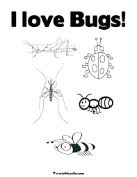 insect coloring page the love bug coloring sheets bug coloring page free printable insect coloring pages
