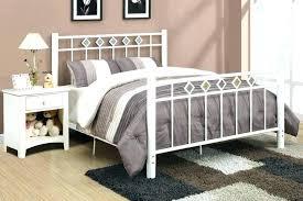metal bed headboard queen. Plain Bed Queen White Metal Headboard Frame    With Metal Bed Headboard Queen 4