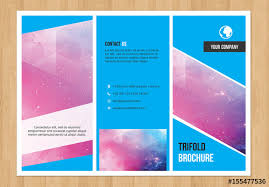 Tri Fold Brochure Layout Trifold Brochure Layout With Blue Elements 1 Buy This Stock