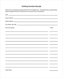 donation receipt forms 11 donation receipt form sample free sample example format