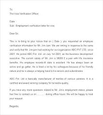 Employment Verification Letter Template For Immigration