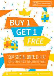 Promotion Banner Buy 1 Get 1 Free Vector Illustration Special