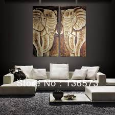 2 piece art set handpainted modern abstract grey animal elephant oil paintings on canvas wall art on 2 pc canvas wall art with 2 piece art set handpainted modern abstract grey animal elephant oil