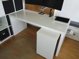 ikea malm desk with pull out panel