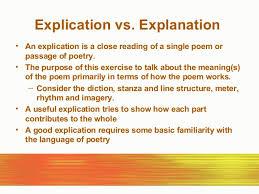 poem explication essay examples co poem explication essay examples poetry explication
