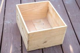 wooden conners into garden planters