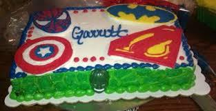 superhero sheet cake cake