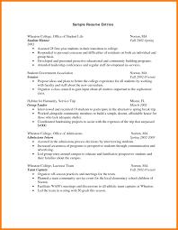 3 Freshman College Student Resume Cv Sample Format