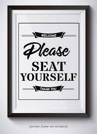 com funny bathroom sign please seat yourself sign unframed 11x14 print bathroom wall art funny quote poster great gift for moms handmade