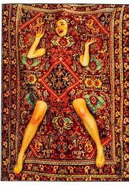 lady on carpet rug