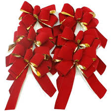 6 Red Christmas Bows Fresh Christmas Wreaths, Centerpieces ...