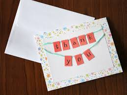 ... Make Thank You Cards How To Make A Little Bunting These Modern Note  Cards Were Made ...