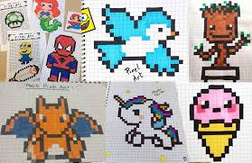 Retrouvez des modèles à imprimer pour réaliser un pixel art ainsi que des grilles et des astuces pour réussir à réaliser de beaux dessins. What Exactlyis Pixel Art Posca Posca