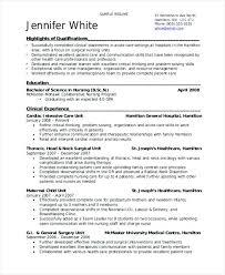 Resume For Nursing Student New Sample Resume Nursing Student No Experience For Letsdeliverco