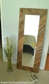 diy wood mirror frame. Unique Mirror 46 Wood Mirror Frame 46diyprojectideaswithshims Throughout Diy Frame