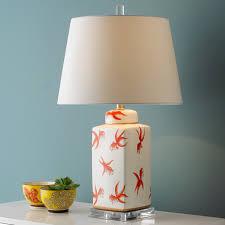 Goldfish Vase Table Lamp ivory_orange