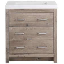 Bathroom vanities 30 inch Glass Top Woodbrook 30 In 19 In Bath Vanity In White Washed Oak Home Depot 30 Inch Vanities Bathroom Vanities Bath The Home Depot