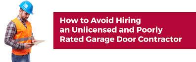 garage door contractorHow to Avoid Hiring Poorly Rate Contractor  TF Draper  Garage Doors