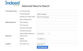Indeed Resume Search Xpopblog Com