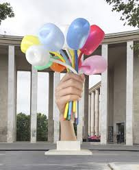 jeff koons bouquet of tulips 2016 polychromed bronze stainless