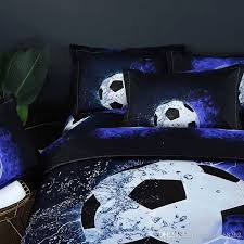soccer duvet cover fresh home textiles 3d printed soccer bedding set water and blue football
