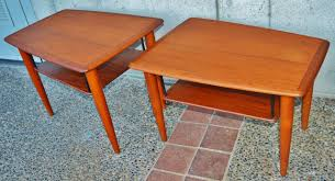 Boomerang Coffee Table Teak Boomerang Coffee Table And Matching Pair Of Side Tables At