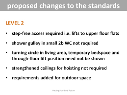 Technical Overview Of Proposed Access Standards For Housing 2013
