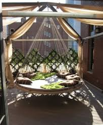 outstanding outdoor hanging beds for your home stylist relaxing outdoor round hanging bed ideas canopy