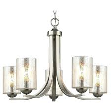 satin nickel chandelier with mercury cylinder glass and 5 lights brushed lighting chain satin nickel chandelier