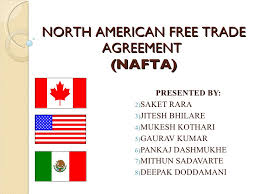 north american trade agreement north american trade agreement nafta <ul><li>presented by