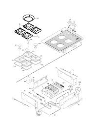 79046819992 elite dual fuel slide in range top drawer parts diagram