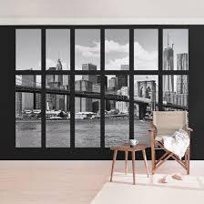 Fototapete New York Fenster New York Brooklyn Bridge Ii