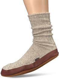 Acorn Unisex Sock Slipper Light Grey Ragg Wool X Small 6 5