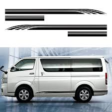 Toyota Hiace Sticker Design Us 25 0 24 Off Car Decal Cool Line Side Door Stripe Graphic Vinyl Car Sticker For Hiace 2015 2016 2017 2018 2019 In Car Stickers From Automobiles