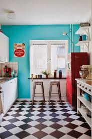 checd tile retro kitchen