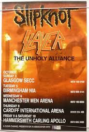 To probe into the matter, he returns to hong kong alone. Slipknot Slayer Original Unholy Alliance 2004 Tour Poster Appx 29 X18 46x74cm
