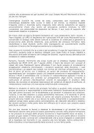 Lettera alle studentesse ed agli studenti del Liceo Statale Niccolò  Machiavelli di Roma ed alle loro famiglie L'emergenza Co